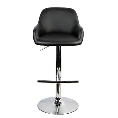 RetailPlus 3048 PU Barstool with T-Shape Footstep, Black and White, 2/Pack