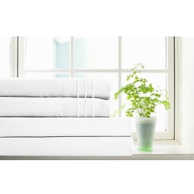 Home Aesthetics 2800 Series Micro Fiber 4-Piece Sheet Set, Queen, White
