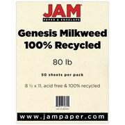 "JAM Paper® 80 lb. 8 1/2"" x 11"" Cardstock, Milkweed Genesis, 50 Sheets/Pack"