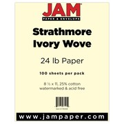 "JAM Paper® 24 lb. 8 1/2"" x 11"" Strathmore Paper, Ivory, 100 Sheets/Pack"