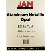 "JAM Paper® 32 lb.. Stardream Paper, 8 1/2"" x 11"", Opal Ivory, 25/Pack"