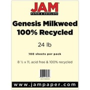 """JAM Paper® 8 1/2"""" x 11"""" Recycled 28 lb. Paper, Milkweed Genesis, 100/Pack"""
