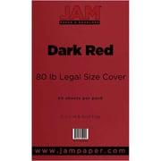 JAM Paper® 80lb Legal Cardstock, 8 1/2 x 14, Dark Red, 50/Pack (64429525)
