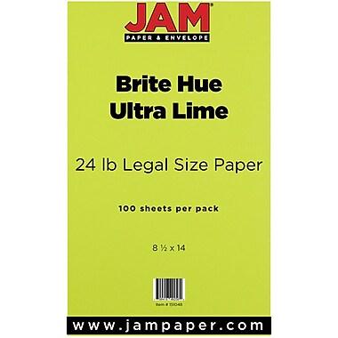 JAM Paper® 24 lb.. Brite Hue Recycled Legal Paper, 8 1/2