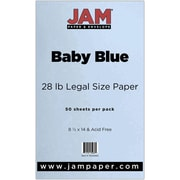 JAM Paper® 28lb Legal Paper, 8 1/2 x 14, Baby Blue, 50/Pack (76329463)