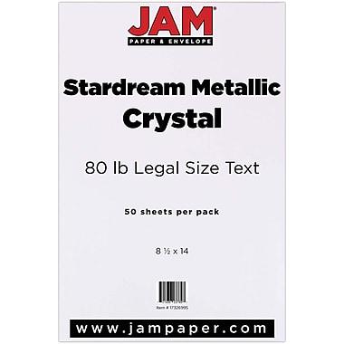 JAM Paper® Metallic Legal Paper, 8.5 x 14, 80lb Stardream Crystal White, 50/Pack (17326995)