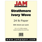 """JAM Paper® 8 1/2"""" x 11"""" Strathmore Paper, Ivory, 500 Sheets/Ream"""
