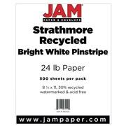 "JAM Paper® 8 1/2"" x 11"" Strathmore Pinstripe Paper, Bright White, 500 Sheets/Ream"