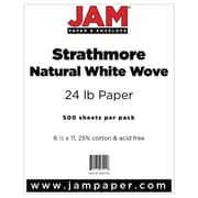 "JAM Paper® 24lb 8 1/2"" x 11"" Strathmore Paper, Natural White, 500 Sheets/Ream"