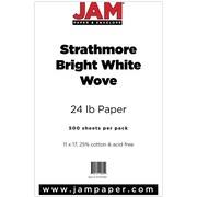 "JAM Paper® 11"" x 17"" Strathmore Paper, Bright White, 500/Ream"