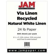 """JAM Paper® 8 1/2"""" x 11"""" Strathmore Paper, Natural White, 500 Sheets/Ream"""