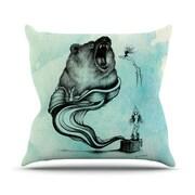 KESS InHouse Hot Tub Hunter III Throw Pillow; 20 inch H x 20 inch W x 4.5 inch D by