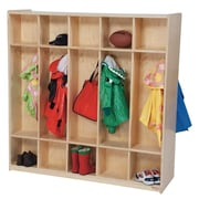 Wood Designs 1 Tier 5-Section Double Locker