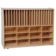 Wood Designs Tip-Me-Not Portfolio Storage Center 32 Compartment Cubby; No Tray
