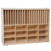 Wood Designs Healthy Kids Tip-Me-Not Portfolio 32 Compartment Cubby