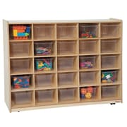 Wood Designs Tip-Me-Not 25 Compartment Cubby; Clear Tray