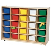 Wood Designs Tip-Me-Not 25 Compartment Cubby; Assorted Tray