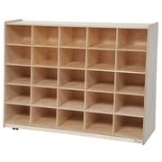 Wood Designs Tip-Me-Not 25 Compartment Cubby; No Tray