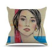 KESS InHouse Face Throw Pillow; 26'' H x 26'' W