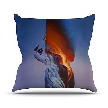 KESS InHouse Volcano Girl Throw Pillow; 26'' H x 26'' W
