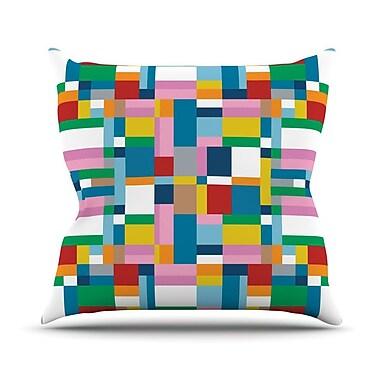 KESS InHouse Map Throw Pillow; 16'' H x 16'' W