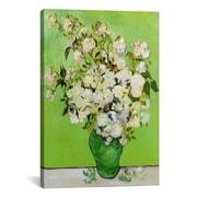 iCanvas ''Roses 1890'' by Vincent Van Gogh Canvas Painting Print; 40'' H x 26'' W x 0.75'' D