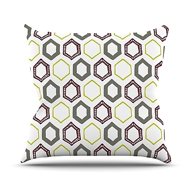 KESS InHouse Hexy Small Throw Pillow; 16'' H x 16'' W