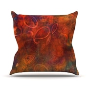 KESS InHouse Tie Dye Paisley Throw Pillow; 20'' H x 20'' W