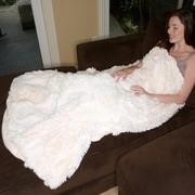 Deluxe Comfort Alpaca Alpaca Fur Blanket; White