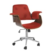 Porthos Home Orion Mid-Back Office Chair; Red