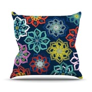 KESS InHouse Multi Flower by Jolene Heckman Rainbow Flowers Throw Pillow; 16'' H x 16'' W x 3'' D