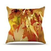 KESS InHouse Autumn Leaves by Angie Turner Vibrant Throw Pillow; 20'' H x 20'' W x 1'' D