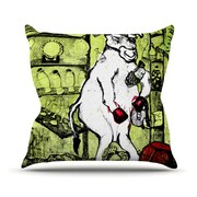 KESS InHouse Taurus Throw Pillow; 18'' H x 18'' W