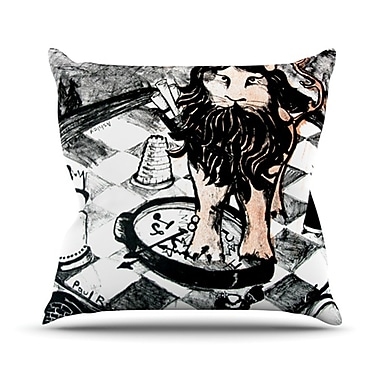 KESS InHouse King Leo Throw Pillow; 20'' H x 20'' W