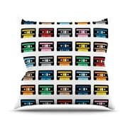 KESS InHouse Rainbow Tapes Throw Pillow; 18'' H x 18'' W