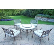 Oakland Living Stone Art 5 Piece Dining Set with Cushions