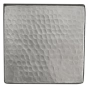 Premier Copper Products 4'' x 4'' Hammered Copper Tile in Nickel