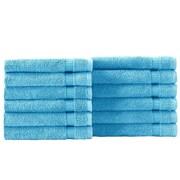 Makroteks Textile L.L.C. Cambridge Wash Cloth (Set of 12); Aqua