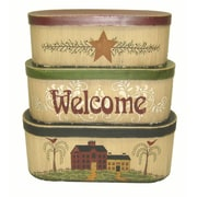 Craft Outlet Oval Welcome 3 Piece Box Set