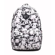 AfterGen Black/White Classic Backpack, Panda Girl (AG002)