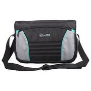 Mercedes AMG Petronas Black Polyester Travelers Messenger Bag (AMGJ-008)