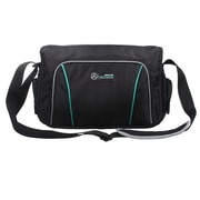 Mercedes AMG Petronas Black Polyester Messenger Bag (AMGJ-030)
