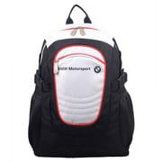 BMW Motorsports Navy Blue/White Polyester Casual Backpack (BMJ-103)