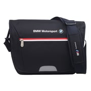 BMW Motorsports Navy Blue/White Polyester Messenger Bag (BMJ-105)