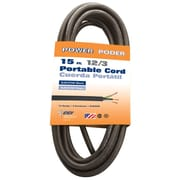 Coleman Cable 09609BL08 12/3 SJEOOW 15-Foot Bulk Wire, 25-Amp, Seoprene