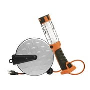 Designers Edge E318 16/3-Gauge 30-Foot Retractable Cord Reel with 13-Watt Fluorescent Work Light, Orange