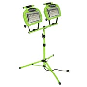 Designers Edge L1322 High Intensity 24-LED Twin Tripod Work Light, 5-Foot Power Cord, Green
