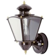 "15 - 1/2"" Beveled Square Coach Light w/ motion - Black"