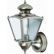 """15 - 1/2"""" Beveled Square Coach Light w/ motion - Pewter"""