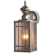 "14 - 1/8"" Open Bottom Coach Light w/ motion - Pewter"